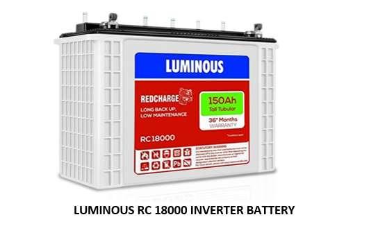 LUMINOUS RC 18000 INVERTER BATTERY