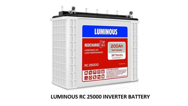 LUMINOUS RC 25000 INVERTER BATTERY