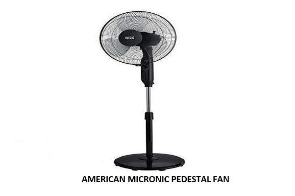 AMERICAN MICRONIC PEDESTAL FAN