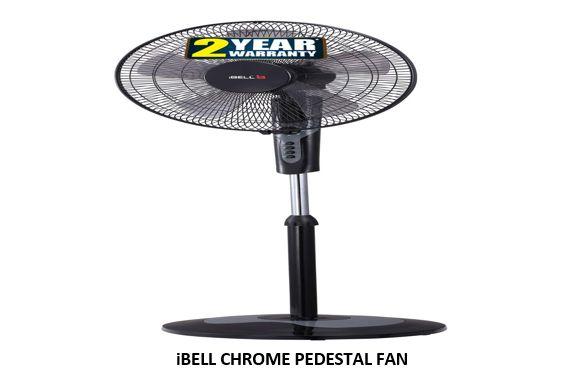 IBELL CHROME PEDESTAL FAN