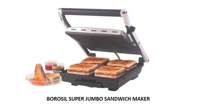 BOROSIL SUPER JUMBO SANDWICH MAKER