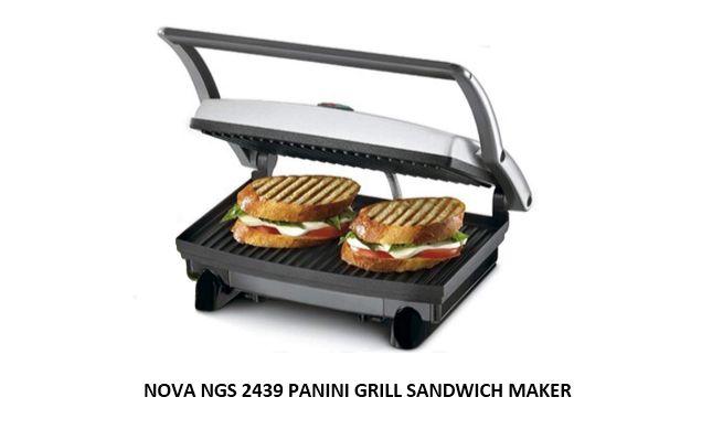 NOVA NGS 2439 PANINI GRILL SANDWICH MAKER
