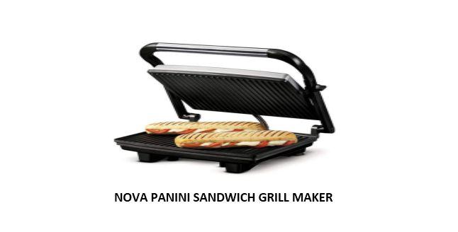 NOVA PANINI SANDWICH GRILL MAKER