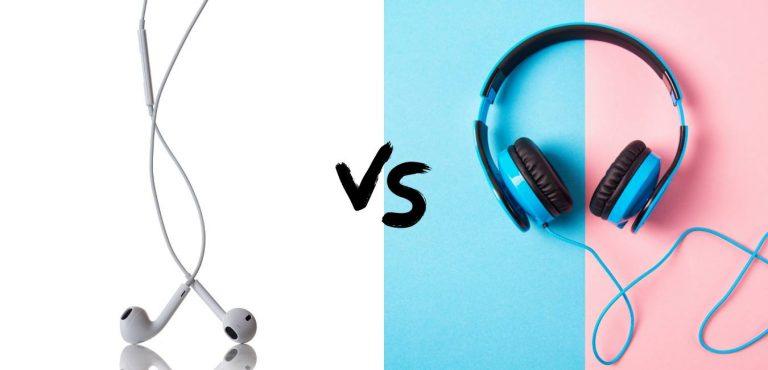 earphones vs headphones